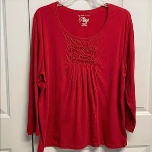 JMS Long Sleeves Tee Shirt Size 2X Red